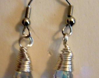 Wire-wrapped Swarovski Crystal Earrings