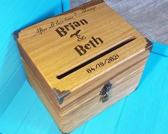 Wedding Card Box - Harry Potter Wedding - Card Holder Harry Potter - Rustic Wedding Decor - Shabby Chic Wedding - Wedding Cards - card box