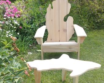 Michigan Mitten, Michigan adirondack chair, Michigan chair, Michigan shape chair, Michigan patio chair