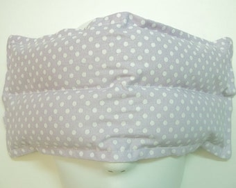 Herbal Hot/Cold Aromatherapy Therapy Eye Pillow Polka Dots Purple