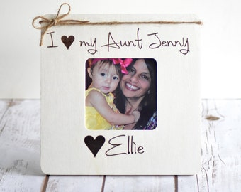 Christmas Gifts for Aunt, Personalized Picture Frame, Christmas Gift from Niece, Uncle Gift, Aunt Gifts, Gifts from Niece, Aunt and Niece