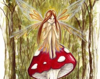 Woodland Wish A4 Art Print