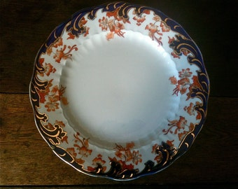 Vintage English Old Fashioned Lunch Dinner Plate circa 1920's / English Shop