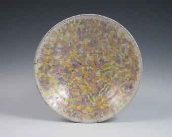 Multi-Colored PurpleTanOrangeYellowCoralBlueGreen Confetti Bowl