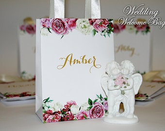 Small Bridesmaid Gift Bags with ribbone - Custom Bridesmaid - Bachelorette bags Bridal - Bridal Shower Bags for small gifts - Wedding favors