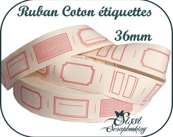 RIBBON FOR GIFT TAGS HAS 100% COTTON SEWING SCRAP SCRAPBOOKING CUTTING