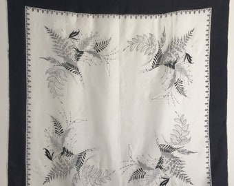 Vintage Black and White Scarf