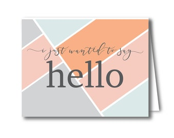 Say Hello Stationery Set - Color Block - Greeting Cards