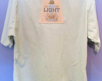 Men's Schlitz Light Button-down Beer Shirt Size XL