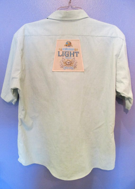 Men's Schlitz Light Button-down Beer Shirt Size XL b0RFfE