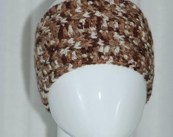 Crochet Brown / Beige Tones Headband