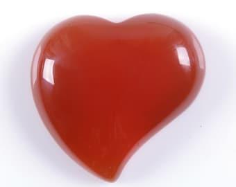 Two pcs 25mm Red agate carnelian heart flatback cab cabochon g1046 x2