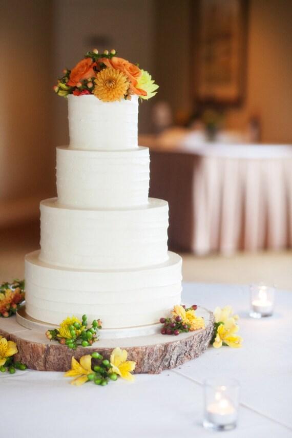 14 Rustic Wood Tree Slice Wedding Cake Base Or Cupcake
