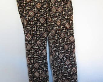 """15 - Mixed black-and-white pattern """"African"""" for dance pants"""