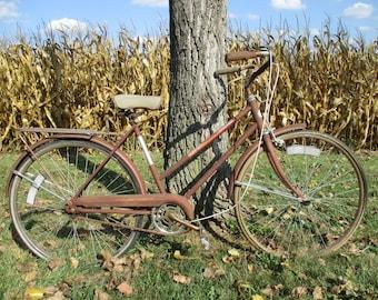 1970s Sears Roebuck Free Spirit Womens 3 Speed Coaster Bike Bicycle Vintage, Mid Century Bike, Vintage Bicycle, Womens Bike