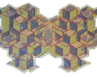 Geometric Marbled Art Quilts