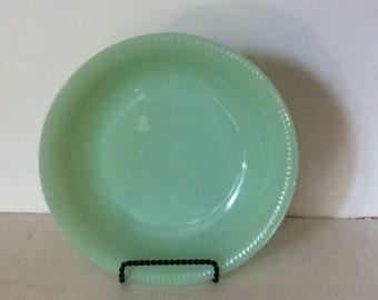 "Vintage Fire King Jadeite Jadite Soup Bowl Salad Bowl Jane Ray Ribbed Pattern 7.5"""