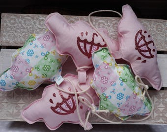 Pink clouds cotton Garland