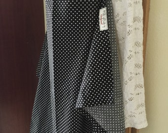 Breastfeeding nursing cover like hooter hider  cool cotton black  dots