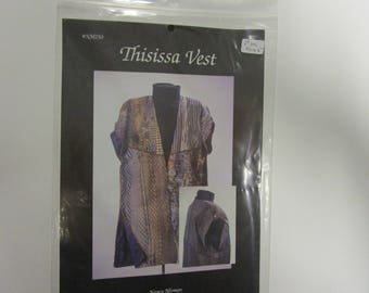 Thisissa Vest Pattern, Nancy Mirman, Advanced Seamstress!