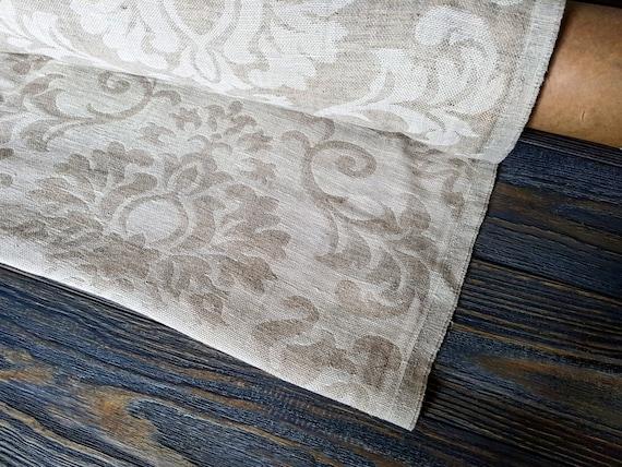 luxus leinen stoff meterware damast leinen stoff weich. Black Bedroom Furniture Sets. Home Design Ideas