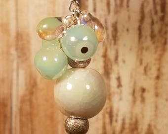 Ceramic and Glass Beaded Earrings