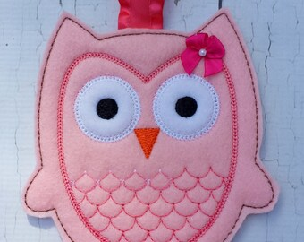 Owl Hair Clip Keeper, Bow Holder.Felt Owl clip keeper.