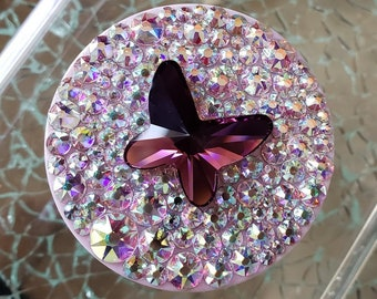 Swarovski AB with Amethyst Butterfly  PopSocket