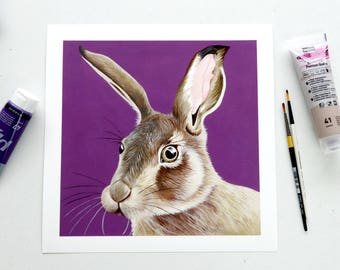 Hare - Large Limited Edition Unframed Print