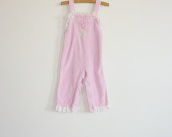 Vintage Velour Baby Overalls