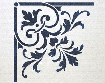 Corner Stencil Reusable Template 025 for Wall DIY decor