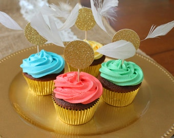 Golden Snitch Cupcake Toppers