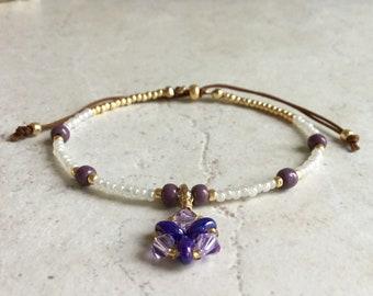 Seed bead bracelet, Charm bracelet, Minimalist bracelet, Friendship bracelet