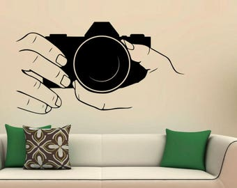 Hands On Camera Vinyl Wall Decal