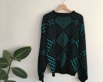 Awesome 80s Vintage Oversized Hipster Sweater