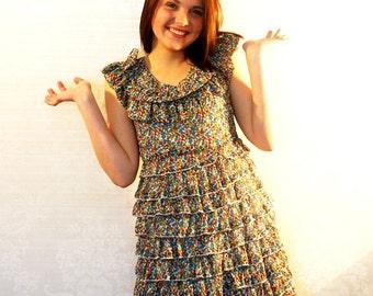 Summer Dress / Romantic Floral dress / Vintage  Dress / Girly dress / Small