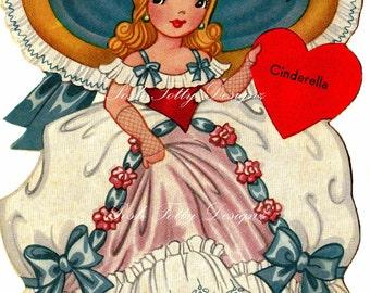 Cinderella 1950s Vintage Digital Download Images (195a)