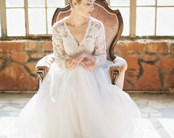 Cherie Gown / Bohemain Wedding Gown / Lace Bohemian Gown / Boho wedding romantic
