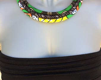 """3 strands"" necklace cord and African, ethnic spirit."
