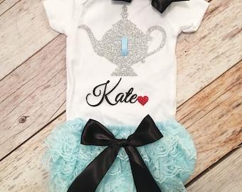 Alice in Wonderland Baby Birthday outfit, First Birthday