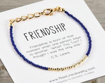 Modern GOLD Friendship Bracelet, Friendship Bracelet Gifts, Best Friend Gift, Best Friend Friendship Bracelet, Beaded Bracelets