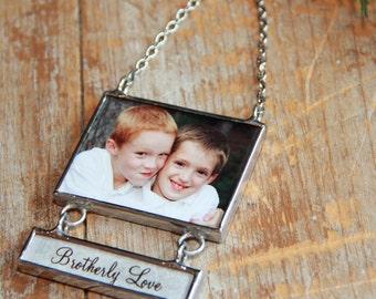Mini Drop Down Photo Ornament, Baby Photo Keepsake, Custom Photo Gift, My First Christmas Ornament, Personalized Photo Ornament