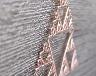 Sierpinski Triangle - Fractal Necklace in Rose Gold