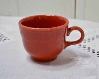 Vintage Fiesta Ware Red Cup Homer Laughlin HLC Replacement PanchosPorch
