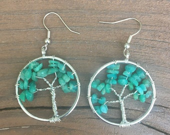 Amazonite Tree of Life earrings