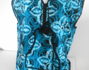 Vest tank top sleeve batik shirt