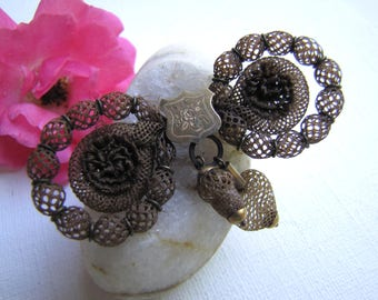 Mourning Brooch, Hair Jewelry, Mourning Hair Brooch, Victorian Hairwork Pin, Hairwork Jewelry, Hair Jewelry,  Mourning Jewelry, Hair Brooch