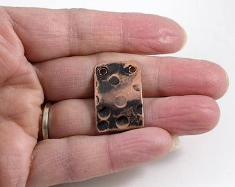 Hammered Blackened Copper Pendant, Copper Pendant, Antique Copper Pendant