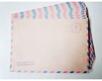 10 Brown Air mail envelopes