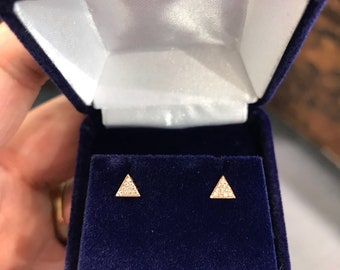 Mini diamond Triangle Earrings!
